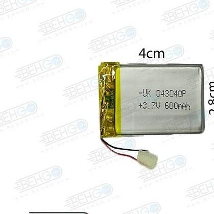 تصویر باتری هدفون بلوتوث لیتیومی تک سل 3.7V 600mAh دارای برد محافظ باطری کیفیت بالا 043040P 3.7v 600mah high quality battery