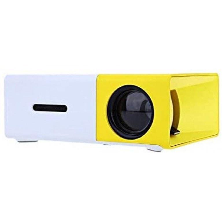 تصویر ویدئو پروژکتور YG300 Mini Portable Projector 400 YG300 Mini Portable Projector 400 - 600 Lumens LCD Video Projector Support HDMI / USB / AV / CVBS/ Remote Control for Home Cinema Theater Indoor/Outdoor Movie projectors Yellow