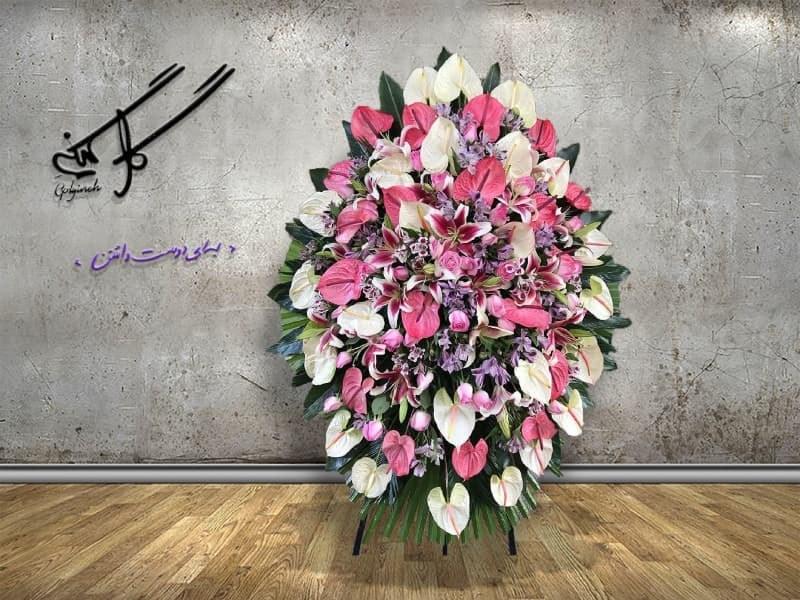 تصویر تاج گل تبریک کد 01246
