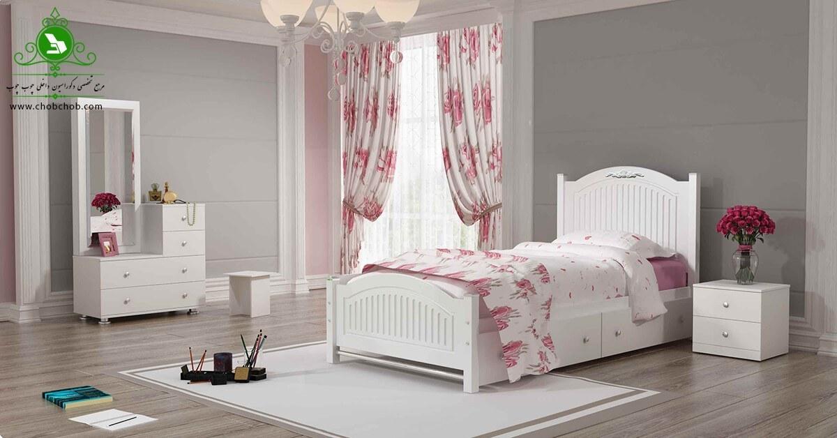 تصویر تخت خواب یک نفره مدل آرتا | فروشگاه اینترنتی چوب چوب