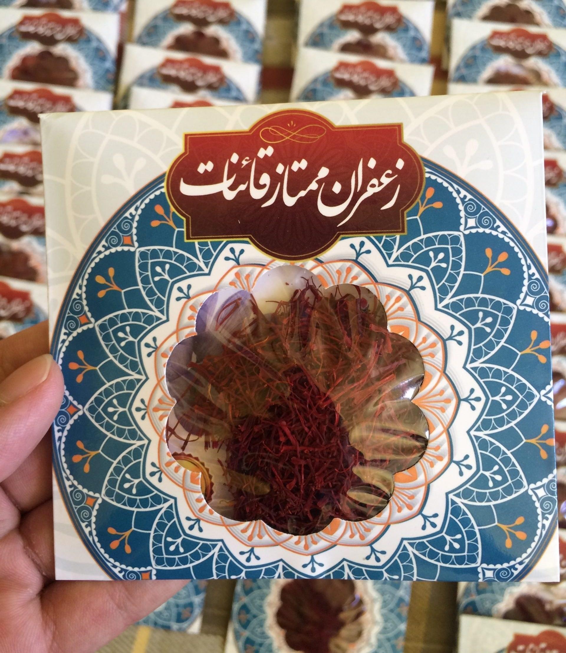 تصویر زعفران سرگل نگین یک مثقالی پاکتی نجوان (قائنات)