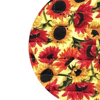 دم کني چاپي کشدار 3 تکه رزين تاژ طرح آفتابگردان | Rezin Taj 3 Pieces Sunflower Printed Elastic Steam Tight