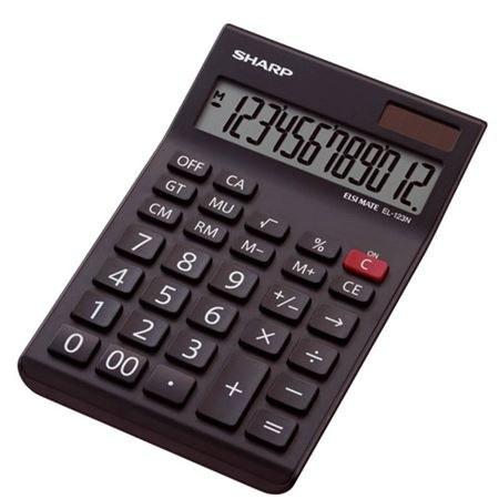 main images ماشین حساب رومیزی شارپ مدل EL-123N  مشکی SHARP EL-123N Calculator