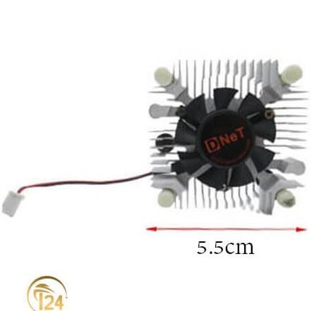 تصویر فن گرافیک 5.5×5.5 سانتی متر هدسینک دار مدل D-Net