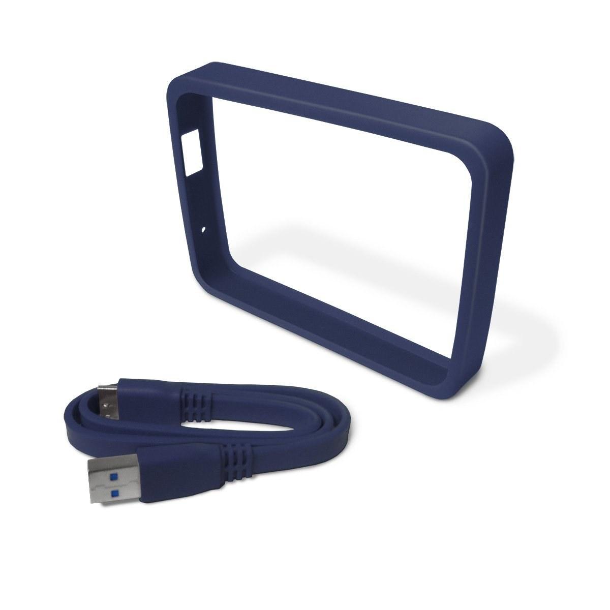 تصویر WD Grip Pack برای گذرنامه من Ultra 2TB با کابل USB 3.0 ، تخته سنگ (WDBFMT0000NBA-NASN)