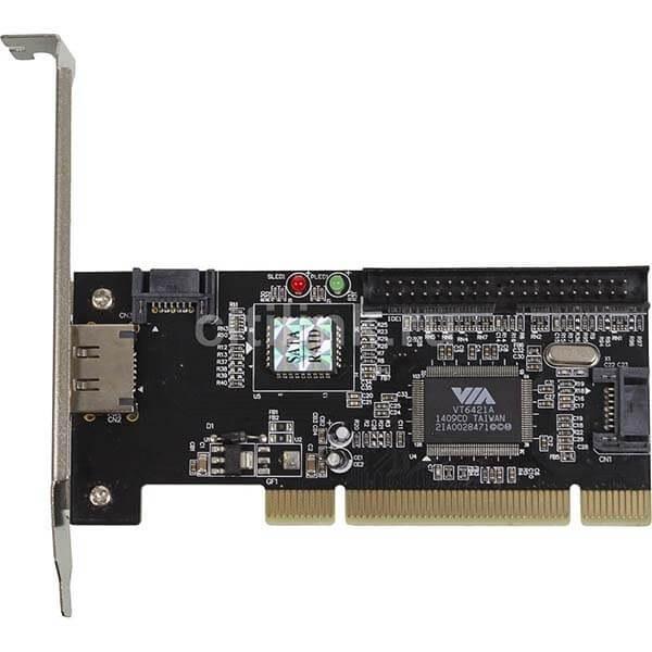 تصویر کارت تبدیل اینترنال SATA و IDE به PCI
