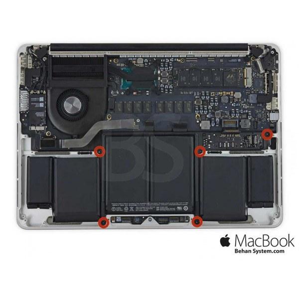 تصویر باتری A1493 مک بوک پرو رتینا 13 اینچ A1502 مدل ME865