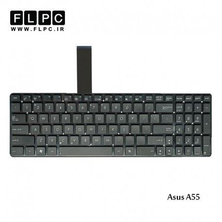 تصویر کیبورد لپ تاپ ایسوس A55 مشکی-اینتر کوچک-بدون فریم Asus A55 Laptop keyboard