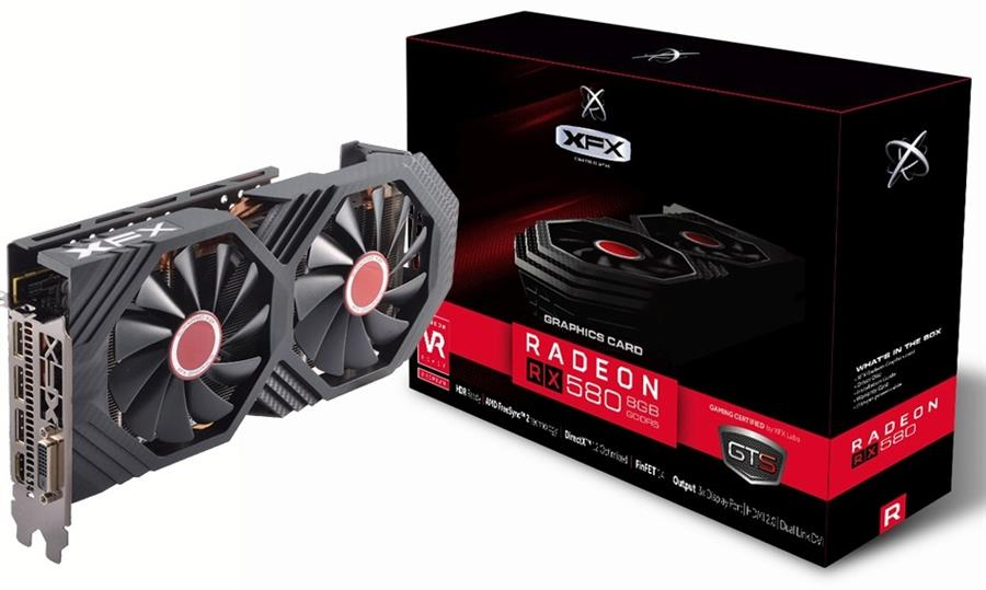XFX RX-580P8DBDR Radeon RX580 GTS Black Edition 8GB OC+ Graphics Card