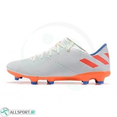 کفش فوتبال آدیداس نمزیز طرح اصلی نارنجی Adidas Nemeziz 19.2 FG White Orange Blue