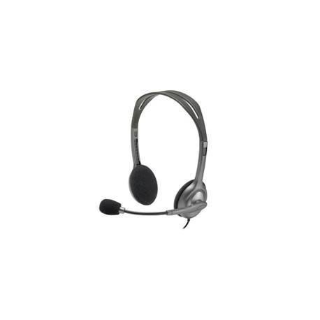 تصویر هدست لاجیتک مدل H111 Logitech H111 Wired Headset, Stereo Headphones with Noise-Cancelling Microphone, 3.5 mm Audio Jack, PC/Mac/Laptop/Smartphone/Tablet - Black