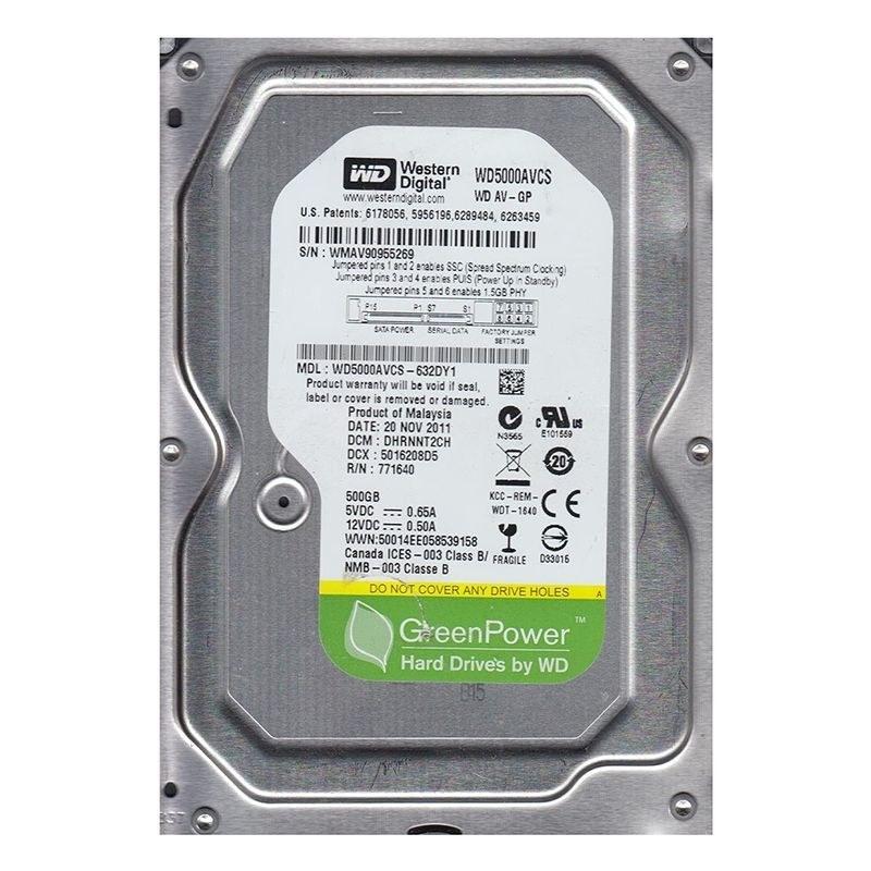 تصویر هارددیسک اینترنال وسترن دیجیتال مدل Green ظرفیت ۵۰۰ گیگابایت Western Digital Green Internal Hard Drive 500GB