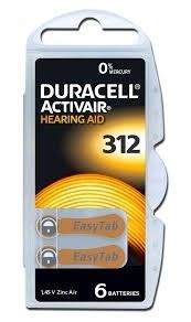 باتری سمعک دوراسل ZA312 Duracell |
