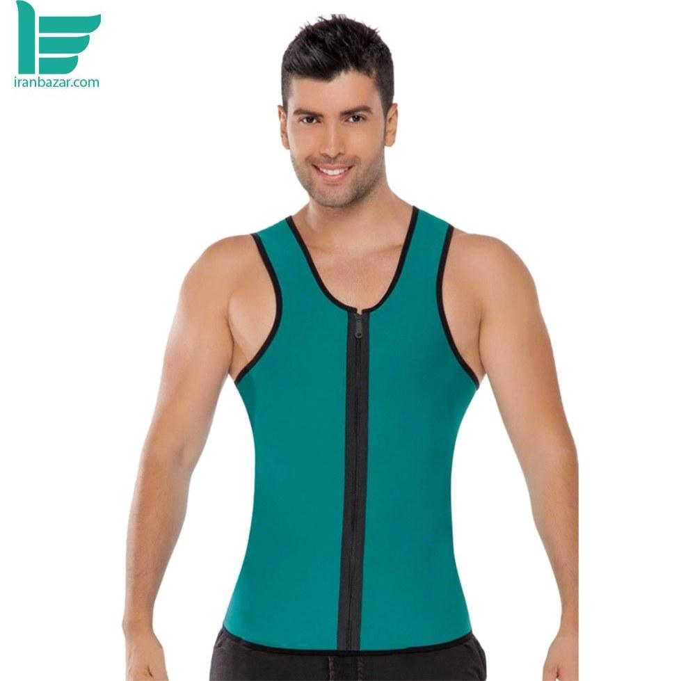 جلیقه لاغری فیتنس لاتکس مردانه زیپ دار مارگون  - Margoun Fitness Latex Zipper Body Shaper Reversible Training Vest |