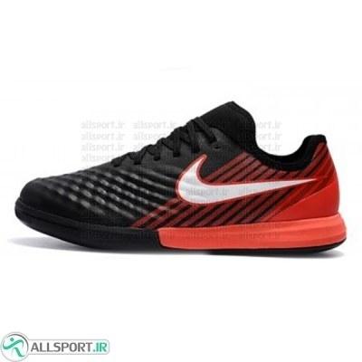 کفش فوتسال نایک مجیستا ایکس فاینال طرح اصلی مشکی قرمز Nike MagistaX Finale II IC Black Red
