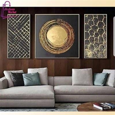 عکس تابلو نقاشی برجسته 3 تکه خورشید  تابلو-نقاشی-برجسته-3-تکه-خورشید