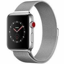 ساعت هوشمند اپل واچ سری 3 سلولار مدل 42mm Stainless Steel Case with Milanese Loop