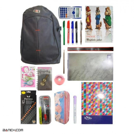 تصویر پکیج لاکچری لوازم تحریر دخترانه کلاس 7 تا 12 Luxury Package Girls Luxury Stationery Package for Girls 7 to 12