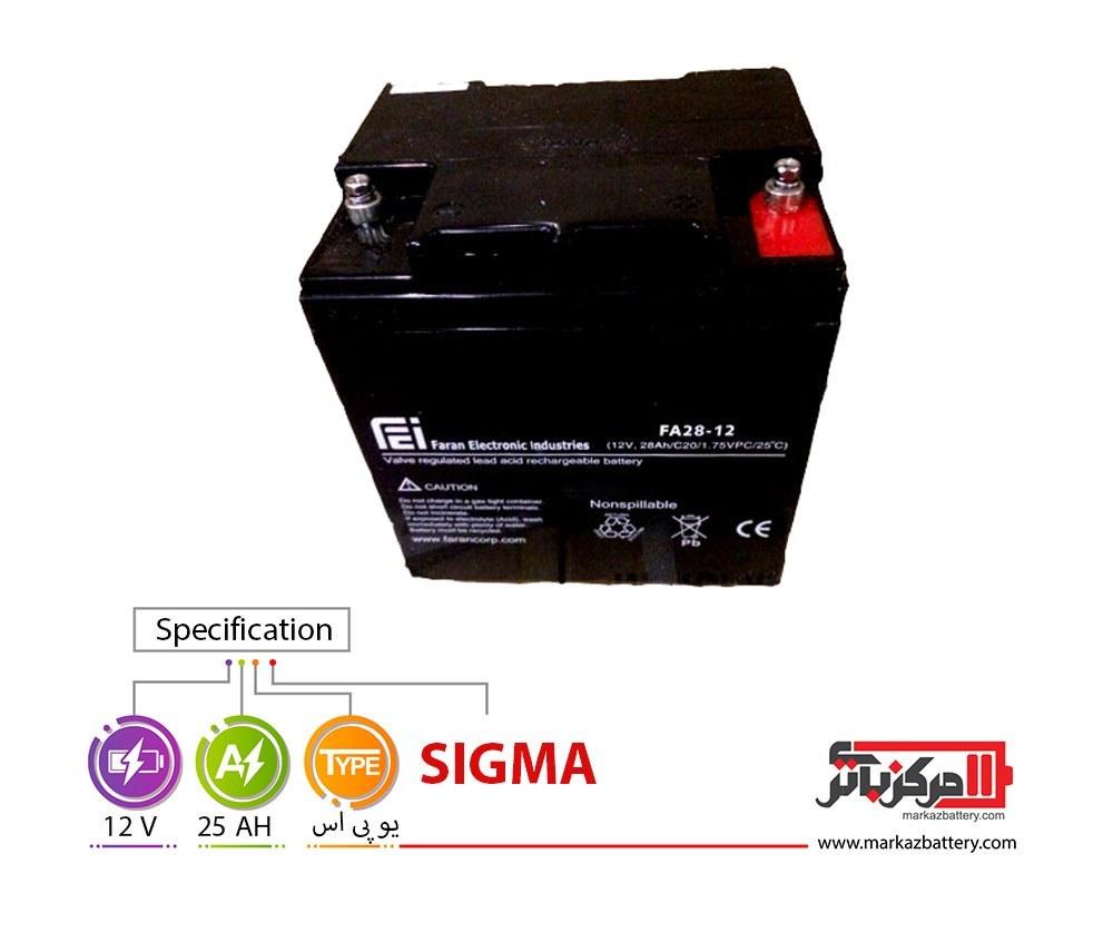 تصویر باتری یو پی اس 12 ولت 28 آمپر فاراتل ا Faratel 12V28AH CSB VRLA Battery Faratel 12V28AH CSB VRLA Battery