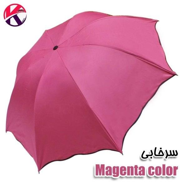 تصویر چتر تاشو رنگی