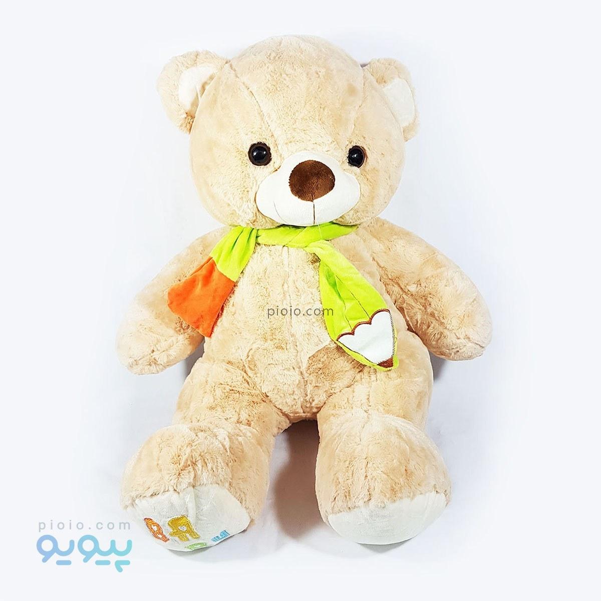 عروسک خرس بزرگ تدی شالگردن دار ۷۰ سانتی |