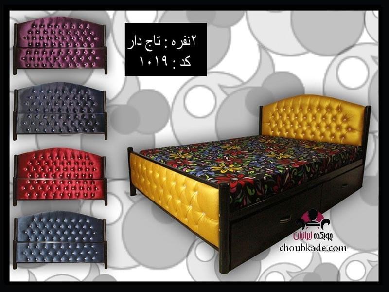 عکس تخت خواب دو نفره لمسه تاج دار  تخت-خواب-دو-نفره-لمسه-تاج-دار
