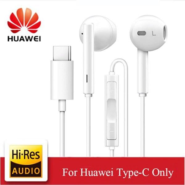 تصویر هندزفری بلوتوثی و با سیم 5140 Original HUAWEI CM33 Earphone USB Type-C In Ear Hearphone Headset Mic Volume HUAWEI Mate 10pro 20 X RS P20 Pro Note 10 headphones