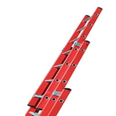 تصویر نردبان ریلی آلومینیومی 3 تیکه 21 پله 6 متری پرشین