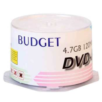 دی وی دی خام  باجت مدل DVD-R بسته 50 عددی | Budget DVD-R Pack of 50