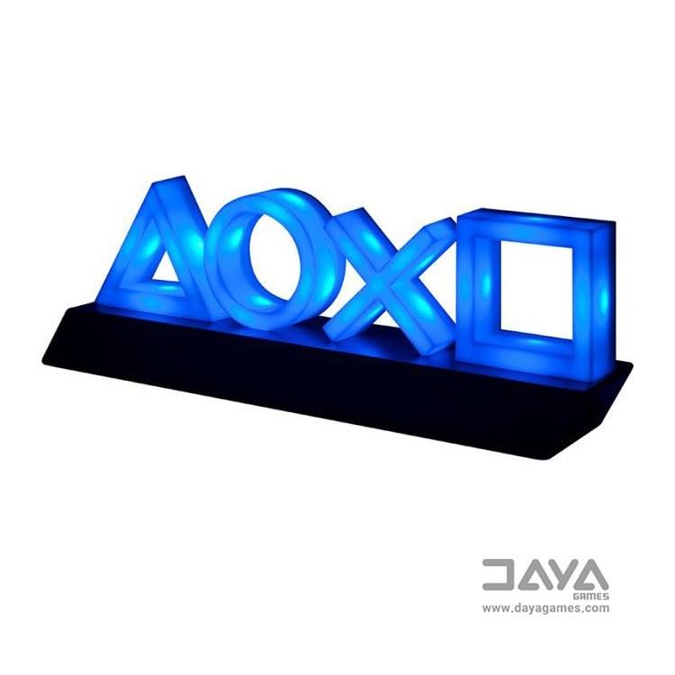 تصویر چراغ آیکون پلی استیشن طرح رنگی Color design PlayStation icon lights