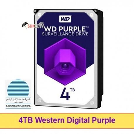 تصویر هارد ديسک اينترنال وسترن ديجيتال بنفش Western Digital Purple 4TB