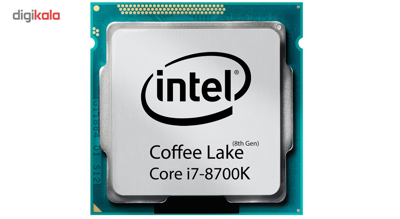 img پردازنده مرکزی اینتل سری Coffee Lake مدل Core i7-8700K بدون فن Intel Coffee Lake Core i7-8700K CPU Without Fan