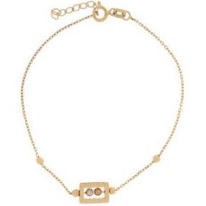 دستبند طلا 18 عیار زنانه آلند کد D2 |