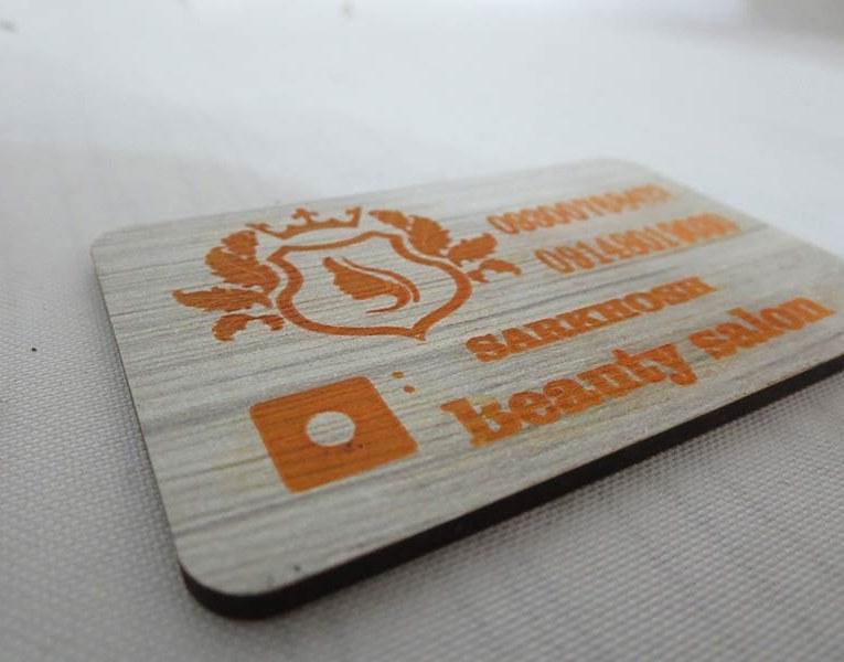 کارت ویزیت چوبی |