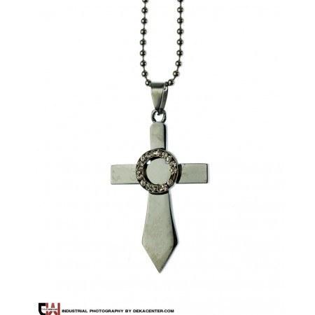 گردنبند صلیب استیل مدل آندیا |