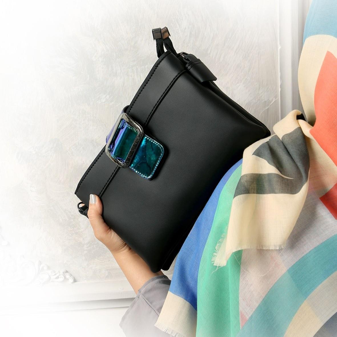 کیف دوشی دخترانه مشکی هولوگرامی | Black Hologram Girls' Shower Bag