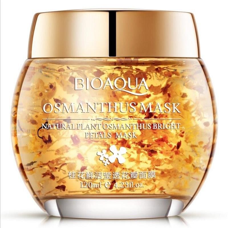 تصویر ماسک اسمانتوس طلایی بیوآکوا ا Bioaqua Osmanthus Petal Mask 120ml Bioaqua Osmanthus Petal Mask 120ml