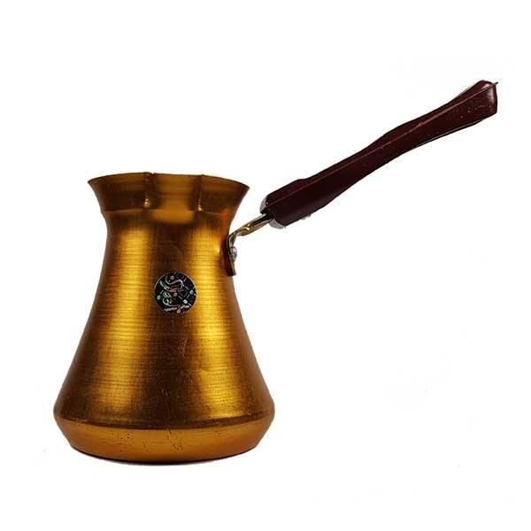 تصویر قهوه جوش آلومینیومی مارتیر طلایی سایز چهار کاپ