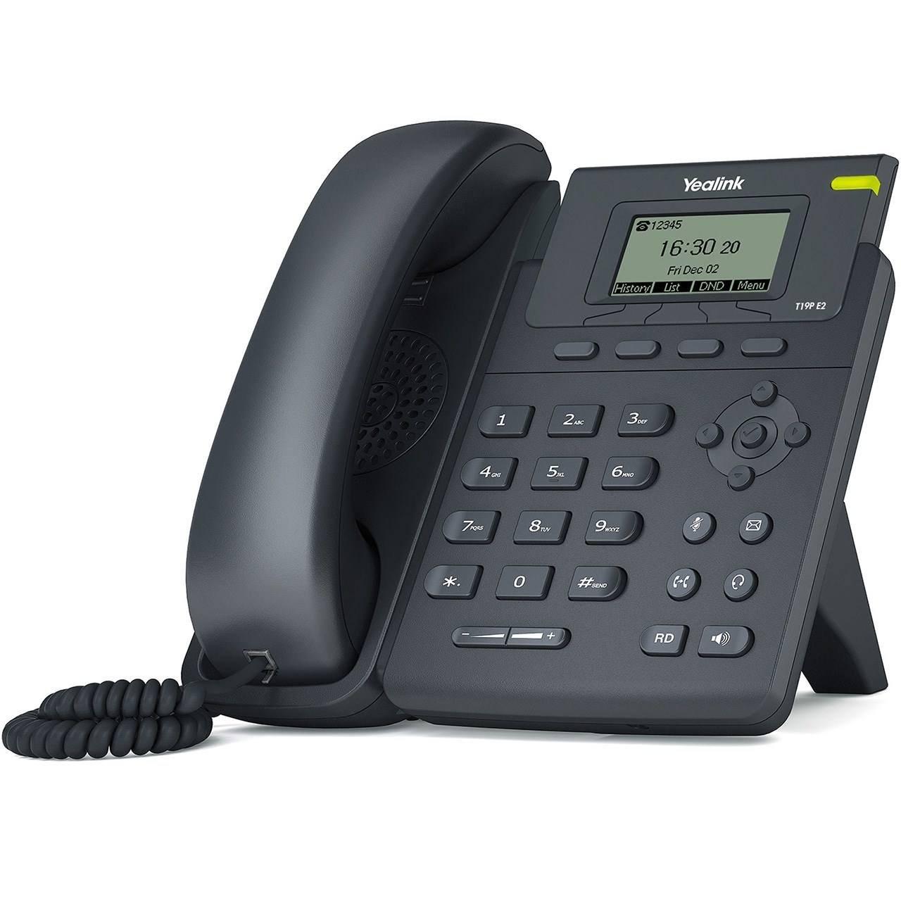 تصویر تلفن تحت شبکه یالینک مدل SIP T19P E2 Yealink SIP T19P E2 IP Phone