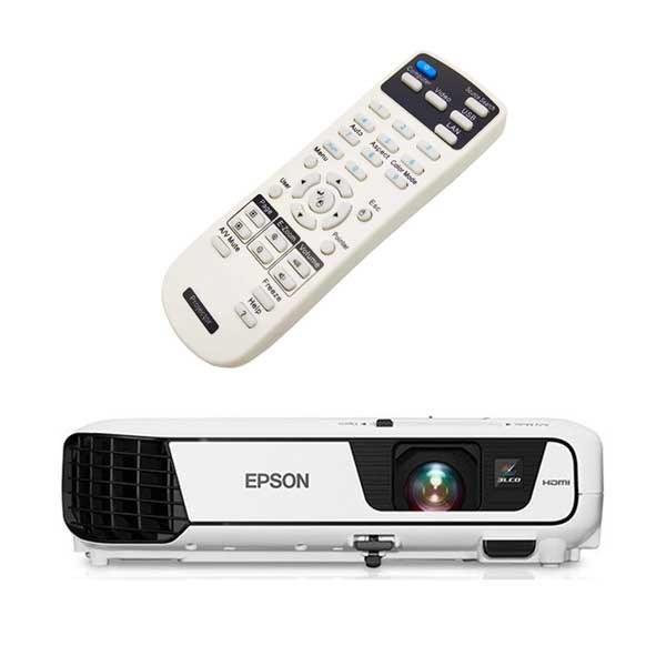 تصویر کنترل ویدئو پروژکتور اپسون مدل  Epson EB-X31