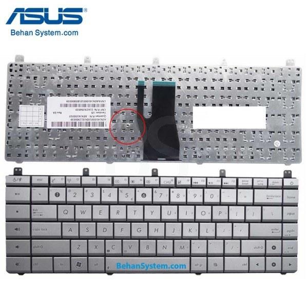تصویر کیبورد لپ تاپ ASUS مدل N45 به همراه لیبل کیبورد فارسی جدا گانه