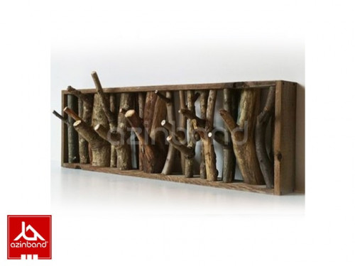 تصویر جا لباسی دیواری چوبی جالباسی دیواری سنتی سایز بزرگ