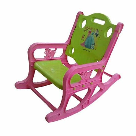 تصویر صندلی راحتی کودک یو یو سبز صورتی