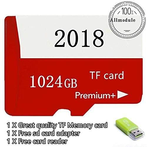 FidgetKute 2018 جدید 1TB میکرو حافظه کارت حافظه 1024 گیگابایت برای کارت حافظه میکرو SD 1TB (قرمز) قرمز 512GB