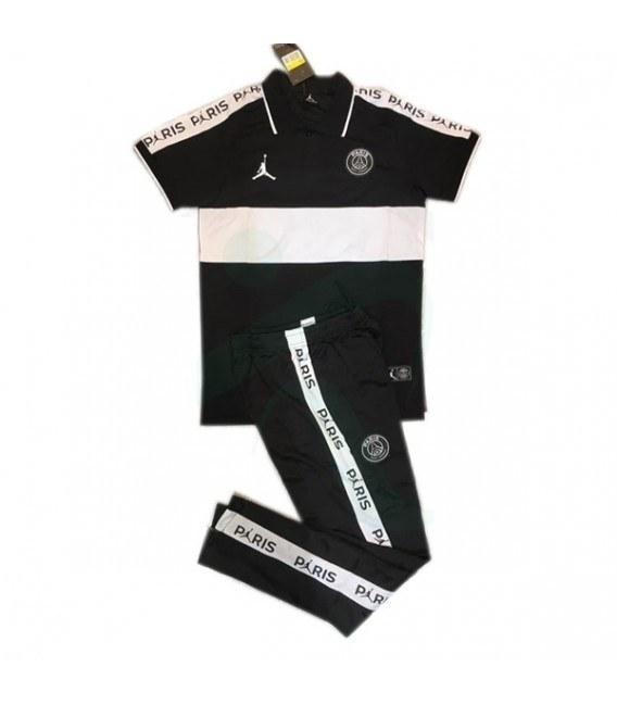 پلوشرت شلوارپاریسن ژرمن مشکی سفید Paris Saint Germain Polo Shirt 2019-2020 Black White