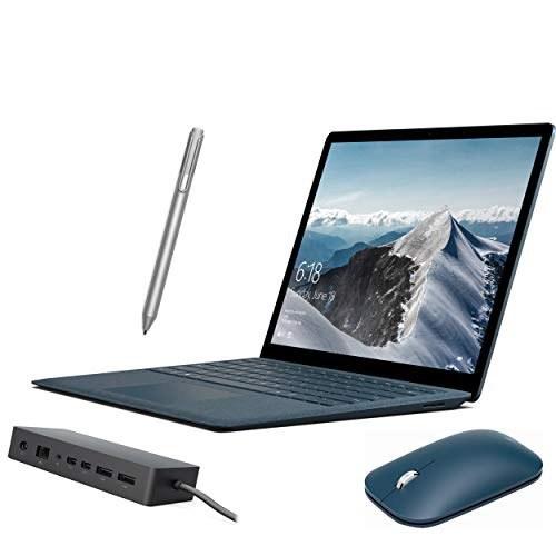 """لپ تاپ مایکروسافت Surface Laptop 13.5 """"2256x1504 PC w / Mobile Moue ، قلم سطحی ، داک ، Core i7 دو هسته ای تا 4 گیگاهرتز ، 16 گیگابایت رم ، 512 گیگابایت SSD ، وب کم ، بلوتوث ، ویندوز 10 - کبالت آبی"""