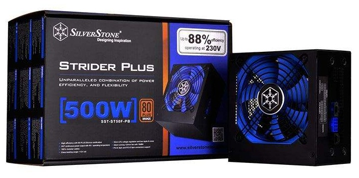 main images منبع تغذیه کامپیوتر سیلوراستون مدل Strider SST-ST50F-PB پاور سیلور استون Strider SST-ST50F-PB 500W Power Supply