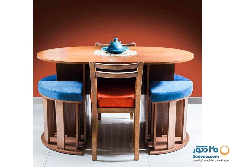 عکس میز و صندلی ناهارخوری جعفری مدل کم جا  میز-و-صندلی-ناهارخوری-جعفری-مدل-کم-جا