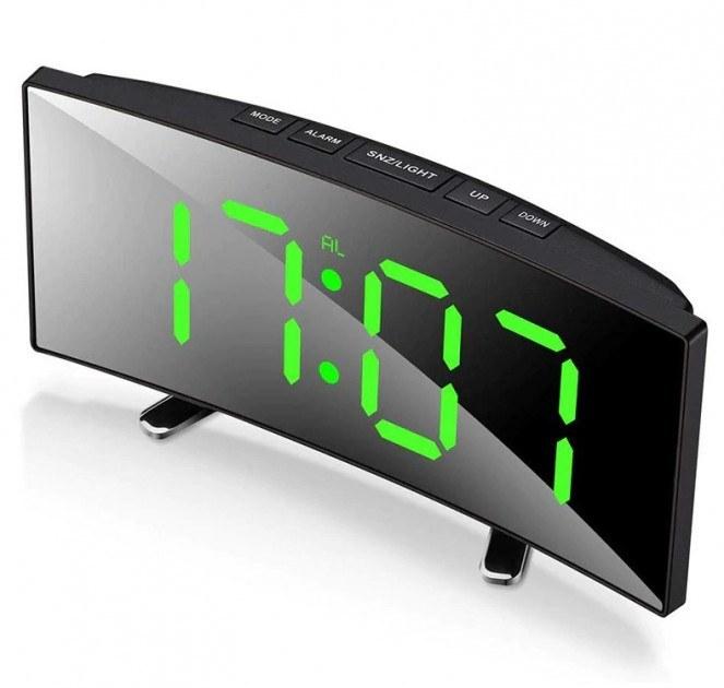 تصویر ساعت و دماسنج دیجیتالی رومیزی آینه ای مدل DT-6507