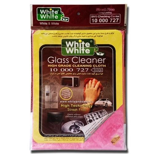 دستمال نظافت شیشه ( دستمال جادویی ) وایت اند وایت - قابلیت پاک کنندگی و درخشندگی بالا و مناسب برای ن |